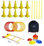 Coordination Set III: Cones, Poles, Marker Cones, Speed Rings, Speed Ladder