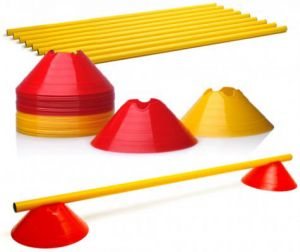 Cut Cone with Poles - Set