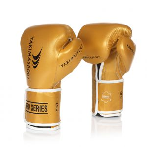 Boxing Gloves ITGER Gold/Black Velcro